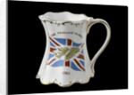 Shaped mug with gilt scrolling rims commemorating the Falklands War, 1982 by St George Fine Bone China