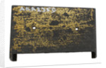 Brass plate by unknown
