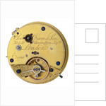 Pocket watch '11465' movement by George Oram & Son