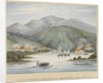 Destruction of the Boyne estates by the rebel slaves in 1831 by James Fuller Boxer