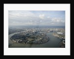 Aerial view of Isle of Dogs and river Thames, London by National Maritime Museum Photo Studio