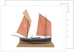 A full hull model of the mackerel driver 'Ebenezer' (1867) by Max T. Davey