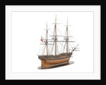 Model of a warship (1800); French; Frigate; 44-46 guns by unknown