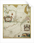A new mappe of the sea coasts of England, France and Holland, wherein the English names, situation, point of the compass, and distance of the several ports, harbours, havens, creeks, sands. by John Seller