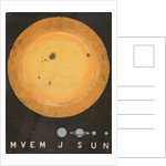A wall hanging of the Sun, 3 feet in diameter and comparative size of planets by Working Men's Educational Union