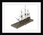 Warship (Fr, circa 1800) by unknown