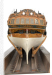 Model of a warship (1757); frigate fifth rate, 32 guns by unknown
