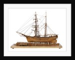 Full hull model of 'Leon' (1880) starboard view, broadside by Harold A. Underhill