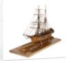 Full hull model of 'Leon' (1880) port three quarter view by Harold A. Underhill