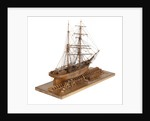 Full hull model of 'Leon' (1880) starboard quarter view by Harold A. Underhill
