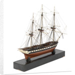 A model of a warship (1800), French, frigate, 44-48 gun by unknown