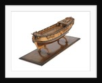 A model of a warship; 22 guns by unknown
