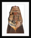 Contemporary full hull model of the 'Winchelsea' (circa 1764) a frigate of 32 guns by Thomas Burroughs