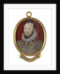 A young Elizabethan man, called Robert Devereux, 2nd Earl of Essex (1565-1601) by Hilliard/Oliver school