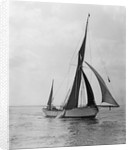 'Rathbale' (Br) sailing barge, under sail by unknown