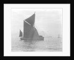 Sailing barge 'Verona' (Br, 1905) under sail by unknown
