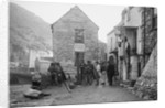 Fish being weighed, Polperro, Cornwall by National Maritime Museum