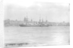 Passenger liner 'Peruvian' (1863) at anchor River Mersey in 1891 by National Maritime Museum