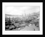 Mevagissey harbour, circa 1890 by unknown