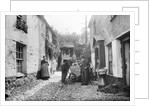 Newlyn Court, Cornwall. Old houses with fisher folk by National Maritime Museum