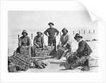 Fishermen with lobster pots, Sheringham, Norfolk by National Maritime Museum