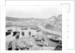 Mevagissey Harbour at low tide, Cornwall. by National Maritime Museum