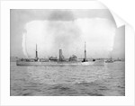 The 'City of Lancaster' (Br, 1924) lying in port, at anchor by unknown