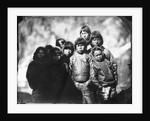 Group portrait of Inuit boys by Edward Augustus Inglefield
