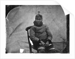 An elderly Inuit woman seated in chair by Edward Augustus Inglefield