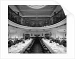 First Class Dining Saloon on the 'Balmoral Castle' (1910) by Bedford Lemere & Co.