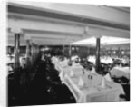 First Class Dining Saloon on the 'Ivernia' (1900) by Bedford Lemere & Co.