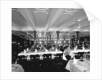 First Class Dining Saloon on the 'Saxonia' (1900) by Bedford Lemere & Co.