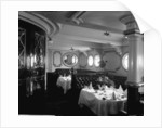 First Class Dining Saloon on the Empress of Ireland (1906) by Bedford Lemere & Co.