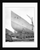 Bow view of the 'Aquitania' (1914) before launch by Bedford Lemere & Co.