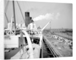 View from the Docking Bridge on the 'Aquitania' (1914) by Bedford Lemere & Co.