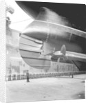 Rudder and inner propellers of the 'Aquitania' (1914) by Bedford Lemere & Co.