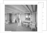 First Class Garden Lounge on the 'Aquitania' (1914) by Bedford Lemere & Co.