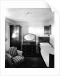 First Class stateroom on the 'Aquitania' (1914) by Bedford Lemere & Co.