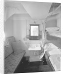 Second Class stateroom on the 'Aquitania' (1914) by Bedford Lemere & Co.