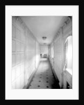 Corridor to the First Class Grill Room on the 'Aquitania' (1914) by Bedford Lemere & Co.