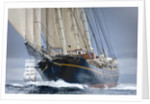 Topsail Schooner 'Gulden Leeuw' during Lerwick to Stavanger Tall Ships Race 2011 by Richard Sibley