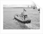 The Trinity House 'Vagabond' leaving Harwich Pier, 1986 by unknown