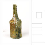 Glass wine bottle by unknown