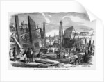 Building the Royal Victoria Docks, 9 September 1854 by unknown