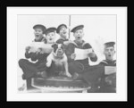 Warspite' boys singing, accompanied by the vessel's mascot by unknown