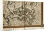 Map of Mottingham, Bromley and Chislehurst by John Rocque