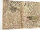 Map of Acton, Paddington, Hyde Park and Kensington by John Rocque