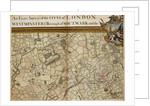 Map of Willesden and Hampstead by John Rocque