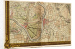 Map of Hampton Court, Kingston and Norbiton by John Rocque