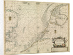 Chart of the North Sea and Dutch coast, 1661 by Mount & Page